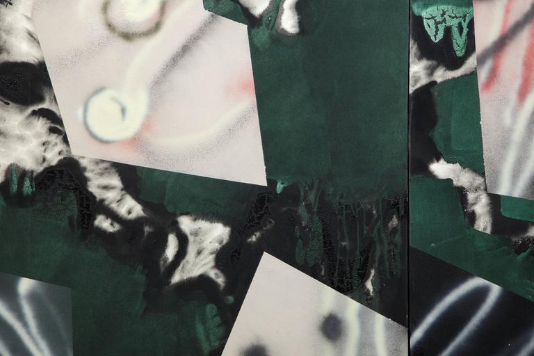 Nambo Panel I & II - Post-War Painting by Ed Moses