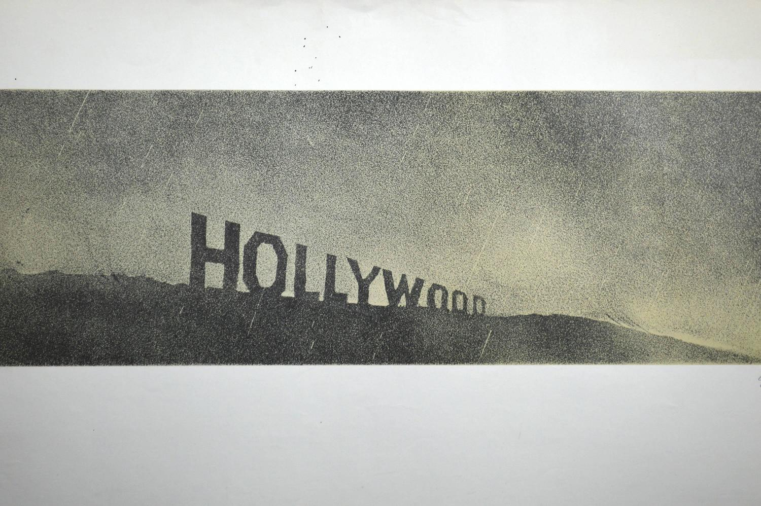 Ed Ruscha Hollywood In The Rain Hollywood Collects For