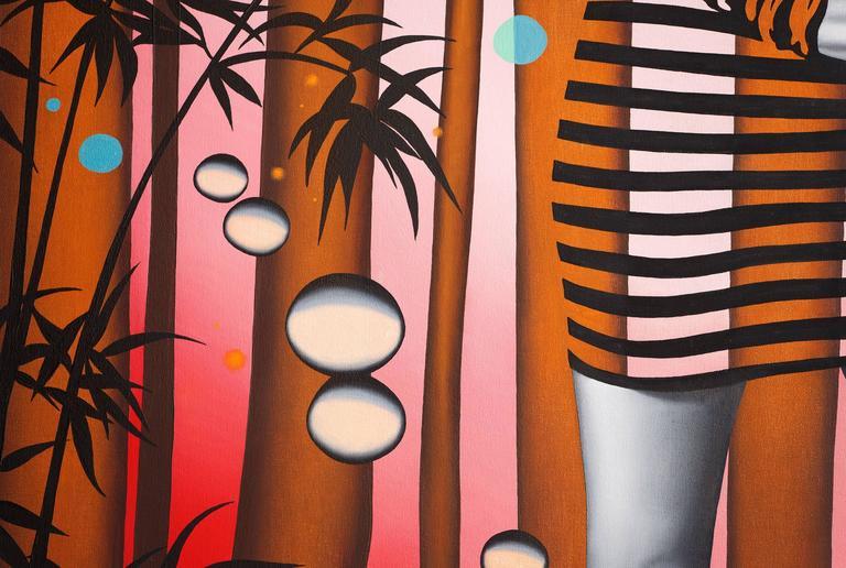 Daphne I - Contemporary Painting by Peter Gerakaris