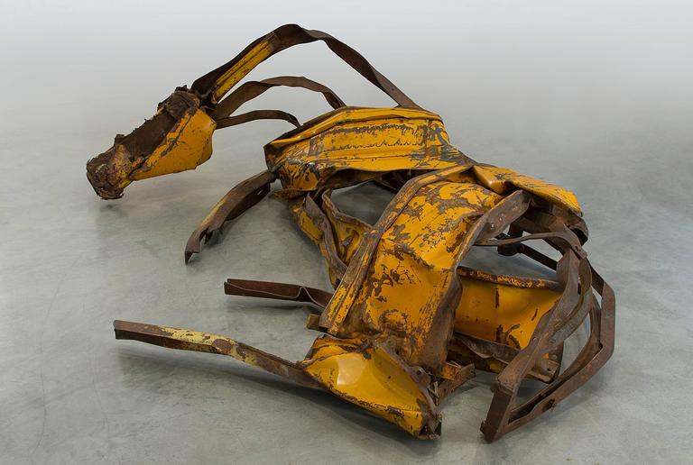 Yellow River - Contemporary Sculpture by Deborah Butterfield