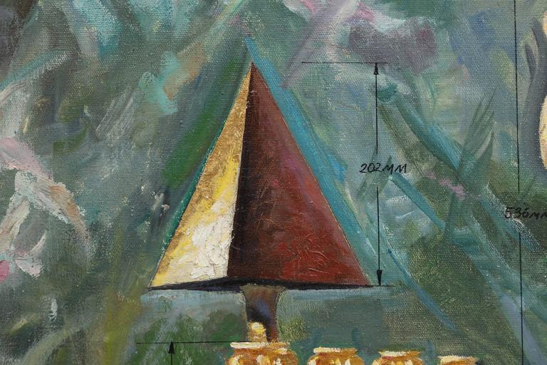 State Power - Contemporary Painting by Leonid Lamm
