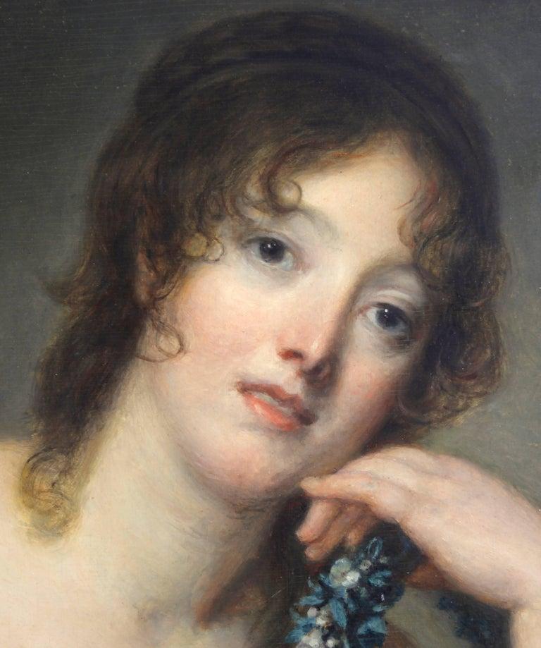 Portrait of Jeanne Philiberte Ledoux (1767–1840) - Old Masters Painting by Jean-Baptiste Greuze