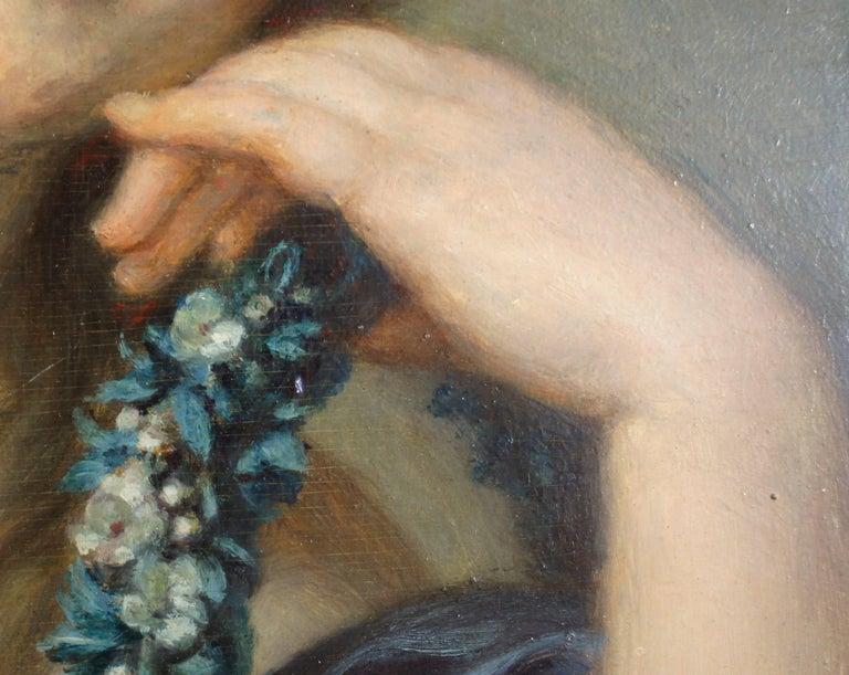 Portrait of Jeanne Philiberte Ledoux (1767–1840) - Brown Portrait Painting by Jean-Baptiste Greuze