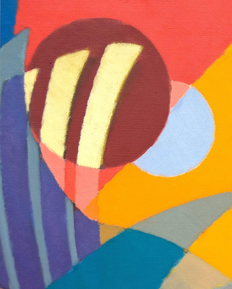 An oil on canvas painting by Post War artist Stanton MacDonald Wright.