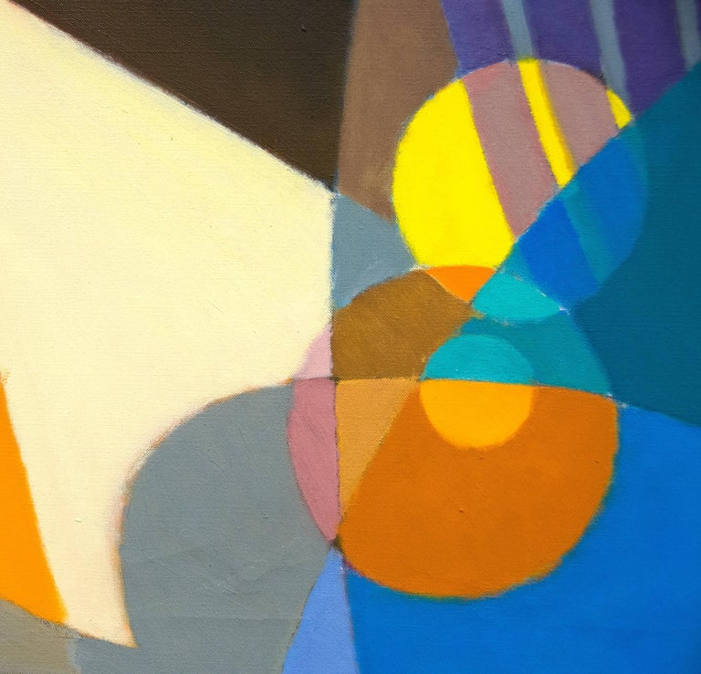 La Gaite - Gray Abstract Painting by Stanton MacDonald-Wright
