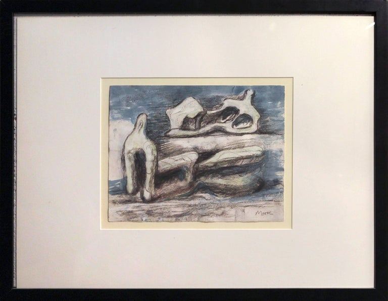 Two Reclining Figures - Art by Henry Moore