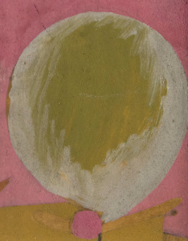 A work on paper by Willem De Kooning. This untitled, abstract, gouache on paper, is executed in soft, yet bright, pinks, greens, yellow, whites, oranges and aqua blue by Post War, abstract expressionist artist Willem de Kooning. Provenance: Private