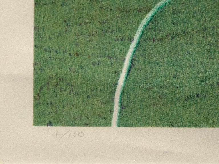 Santa Barbara Patio, 12/10/1982 - Gray Figurative Print by Robert Bechtle