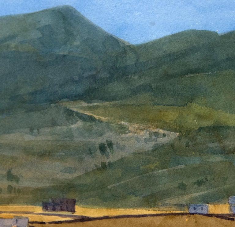 Paros (6/7/96) - Brown Landscape Art by Robert Bechtle