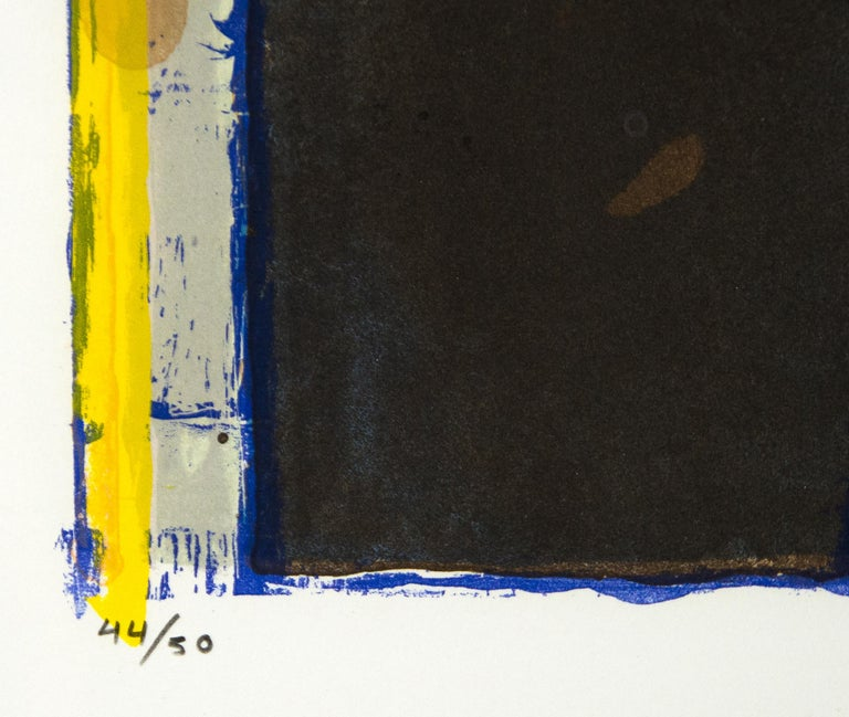 Twelve - Beige Abstract Print by Richard Diebenkorn