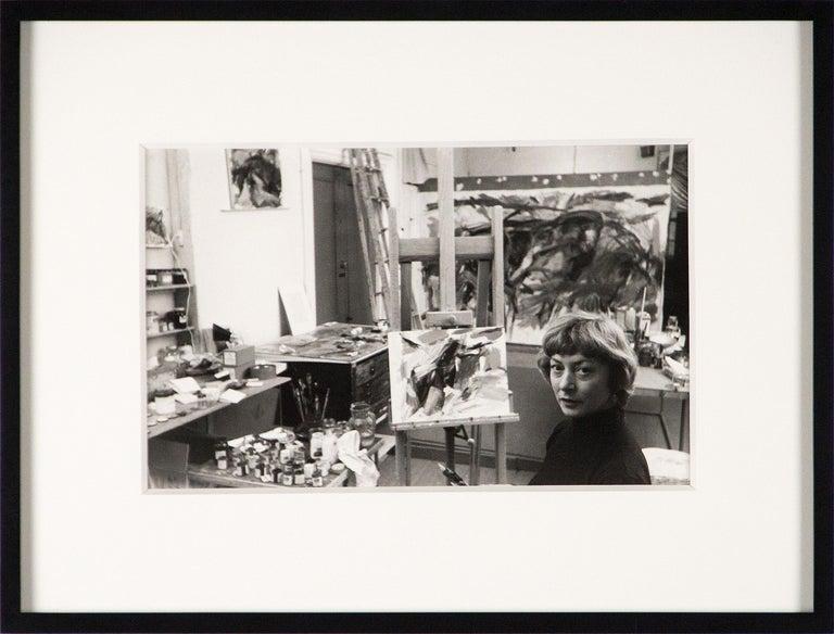 Elaine de Kooning, New York (in Studio) - Photograph by Rudy Burckhardt