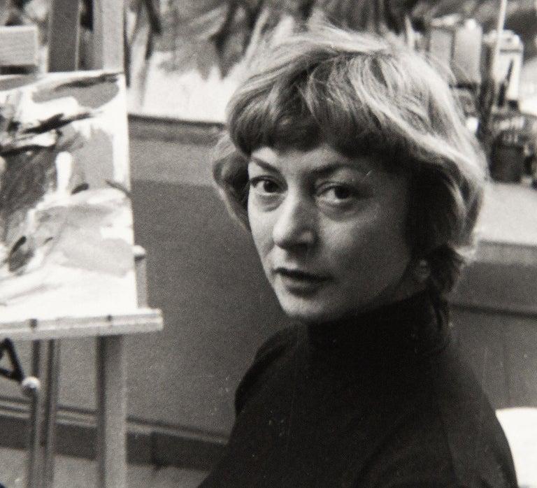 Elaine de Kooning, New York (in Studio) - Post-War Photograph by Rudy Burckhardt