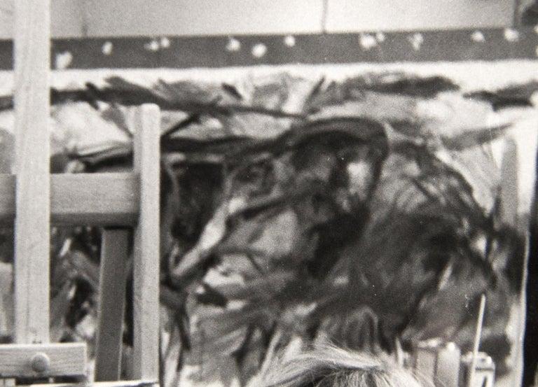 Elaine de Kooning, New York (in Studio) - Gray Portrait Photograph by Rudy Burckhardt