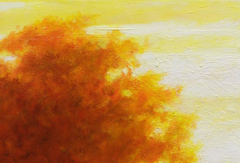 Trees - Orange Landscape Painting by William Glen Crooks