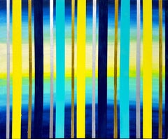 Magic Blue by Katharina Husslein - stripes in Blue and Yellow, Gold