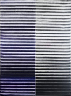 Display No 41 - Striped black and blue painting