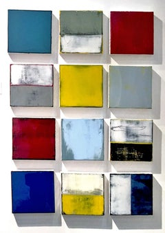 Fields of Color by Claudia Küster-Resin Shiny, Colorful, Contemporary paintings