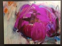 Joy of life by Heidi willberg magenta, pink, purple flower, abstract modern