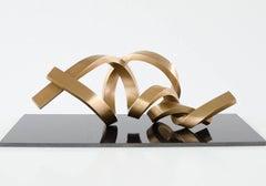 Infinitum - Gold bronze sculpture