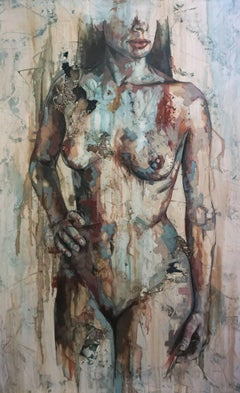 Shapes - Mixed Media, Abstract Nude Figurative Painting
