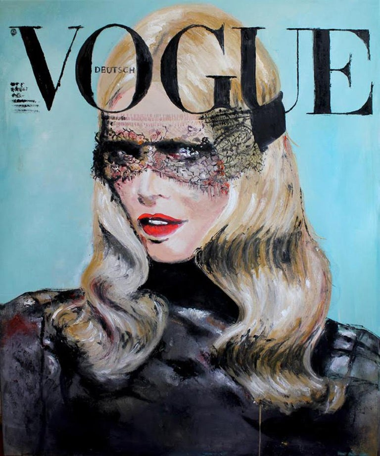 Madame Claudia Schiffer Portrait - Vogue Fashion inspired figurative painting