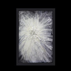 The last seconds of the dark - Lauren Baker black and white abstract painting