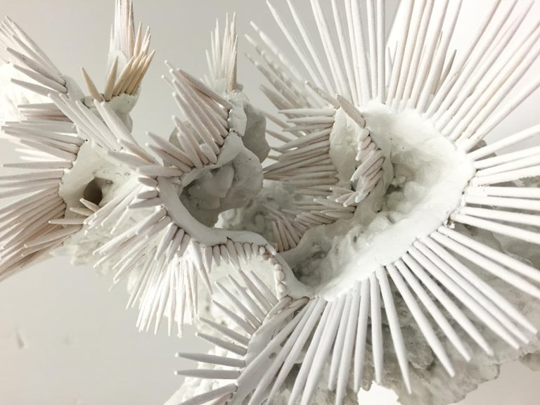 24 million years ago - Lauren Baker white abstract underwater sculpture - Sculpture by Lauren Baker