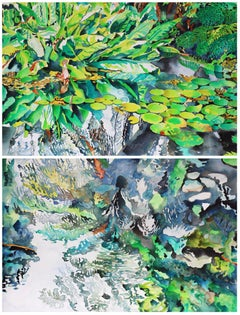 Abigail McDougall -Jungle Lost Gardens -Watercolour, abstract landscape painting
