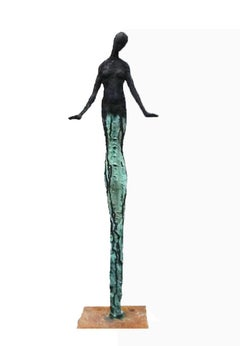 Young One - Emmanuel Okoro sculpture of Giacometti inspired human form