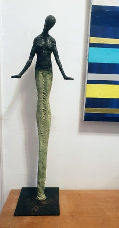 Young One by Emmanuel Okoro sculpture of Giacometti inspired human form