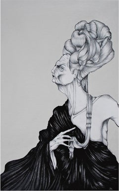 The Hair You Touched by Daniele Davitti - Illustration Painting on Canvas