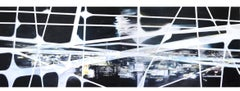 Urban Night by Katja Grandpierre -Large Abstract Contemporary Cityscape Painting