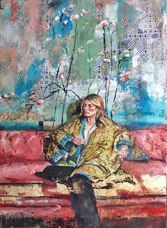 Couch Surfing by Astrid Stöfhas, Figurative, Fashion inspired painting
