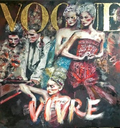 VOGUE VIVRE by Astrid Stöfhas, Figurative, Fashion inspired painting