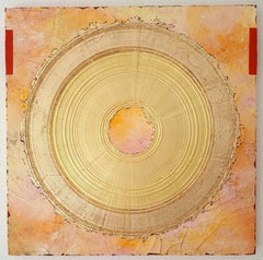Creatio Continua by Kuno Vollet Abstract Textured Gold Leaf Painting