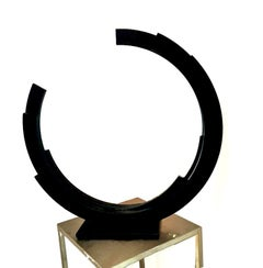 Perpetuity Black Steel Half Circle Contemporary Minimal sculpture by Kuno Vollet