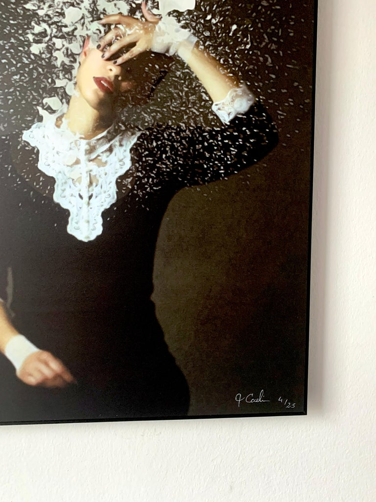 Whitewash by Jo Cardin - Black, Contemporary, abstract, photography portrait  For Sale 3