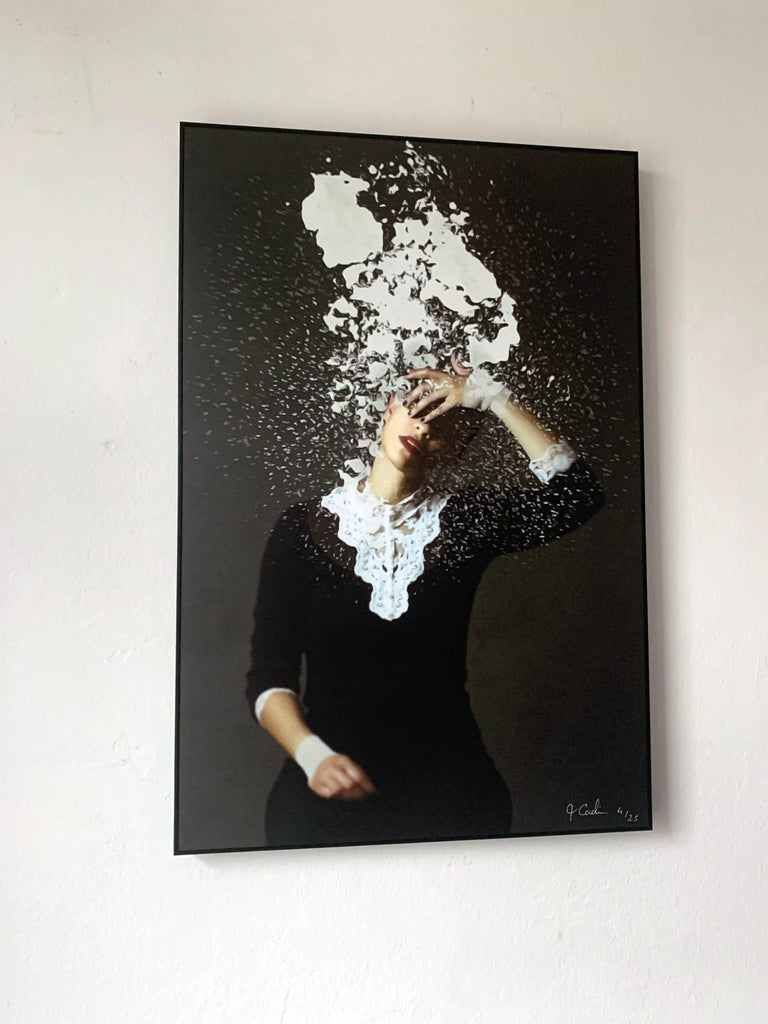 Whitewash by Jo Cardin - Black, Contemporary, abstract, photography portrait  For Sale 4