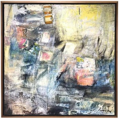 Timothy J. Sanchez Abstract Expressionist Mixed Media Painting