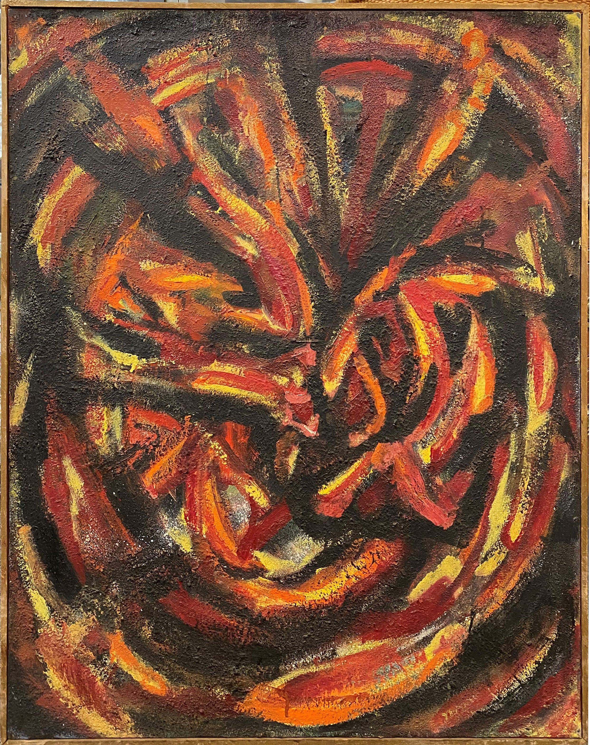 Abstract in Shades of Orange, Yellow, Red, &  Black