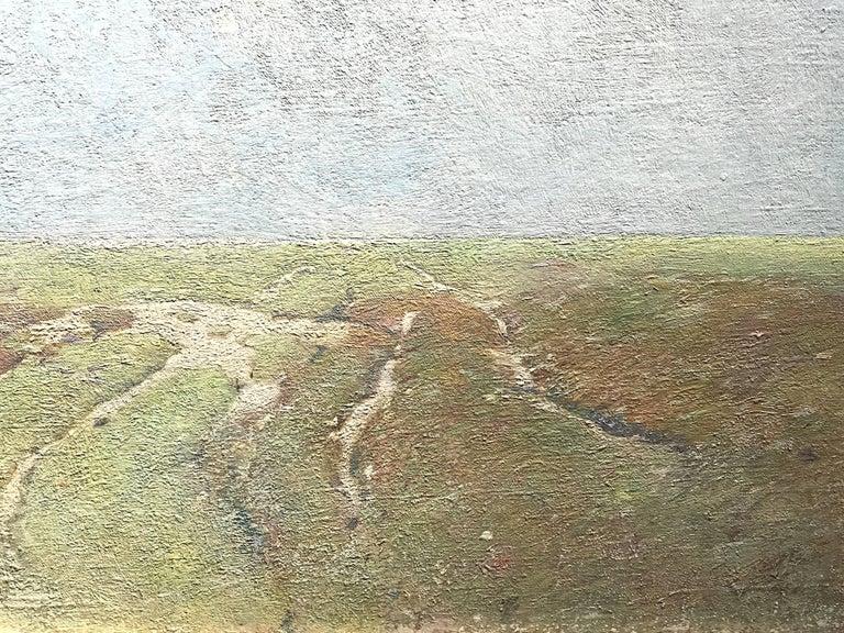 Marsh Landscape - Brown Landscape Painting by Soren Emil Carlsen