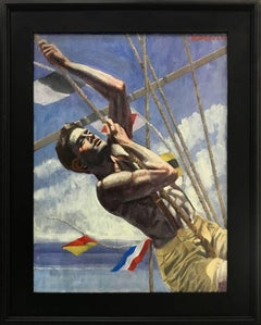 [Bruce Sargeant (1898-1938)] Young Sailor with Flags