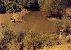Negroes Fishing in Creek Near Cotton Plantations Outside Belzoni