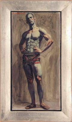 [Bruce Sargeant (1898-1938)] Wrestler in Singlet