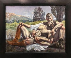 [Bruce Sargeant (1898-1938)] Two Men Reclining on a Blanket