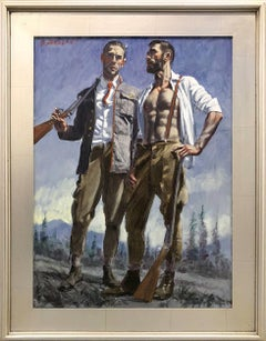 [Bruce Sargeant (1898-1938)] Two Hunters, One Wearing Suspenders