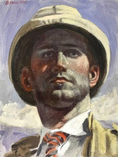 [Bruce Sargeant (1898-1938)] Jeff in Pith Helmet
