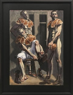 [Bruce Sargeant (1898-1938)] Three Football Players