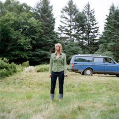 Edith, with the blue Volvo