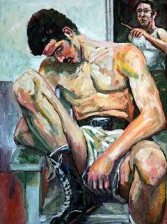 Portrait of Steve Nusser with Artist